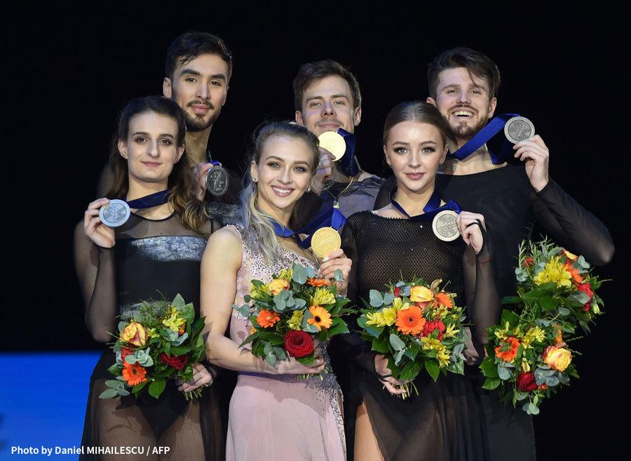 ISU欧州フィギュアスケート選手権2020 アイスダンス 表彰台
