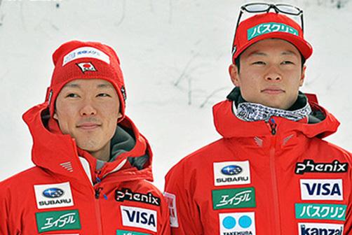 岩手が生んだ【左】小林潤志郎(雪印メグミルク)と小林陵侑(土屋ホーム)兄弟