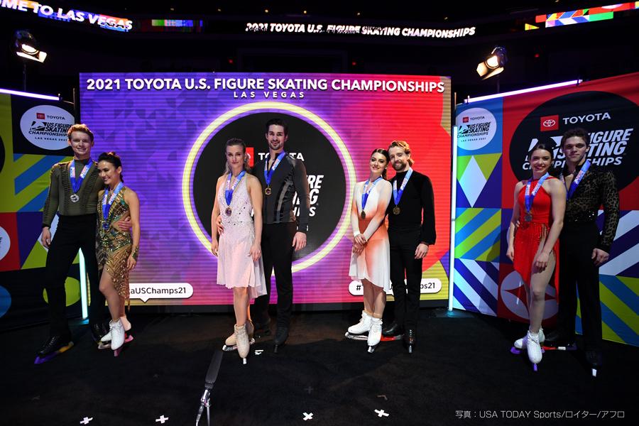 全米選手権2021 アイスダンス 表彰式