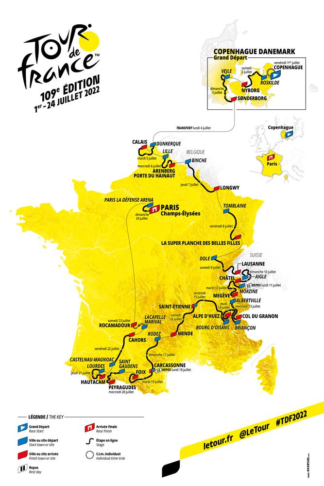 ツール・ド・フランス2022のルートMAP