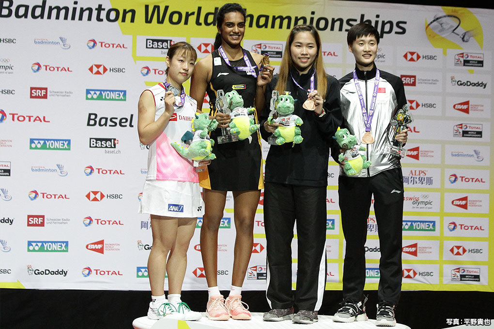 女子シングルス表彰式